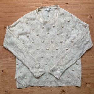 Madewell Bobble Sweater In Cream